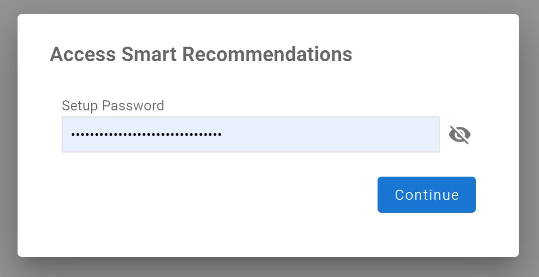 Kontent Smart Recommendations setup password prompt