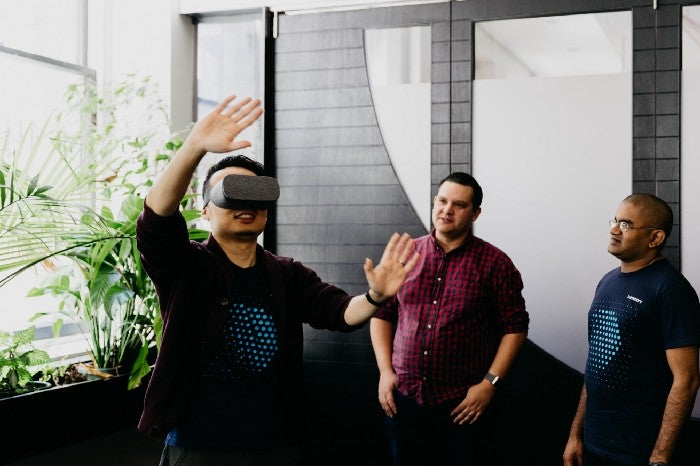 Tony fromwww.Luminary.comengaging in VR problem solving