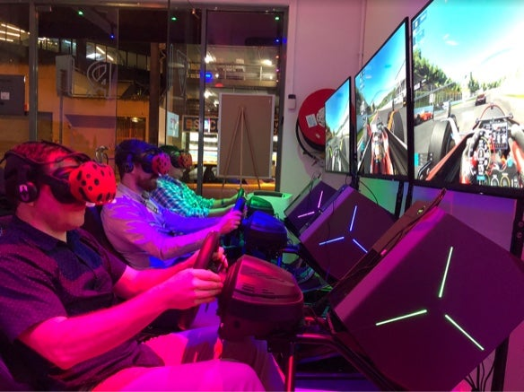 Racing games with VR headsets