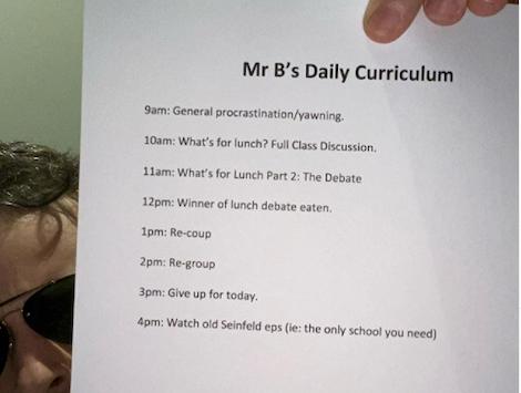 Hamish Blake's curriculum from Instagram