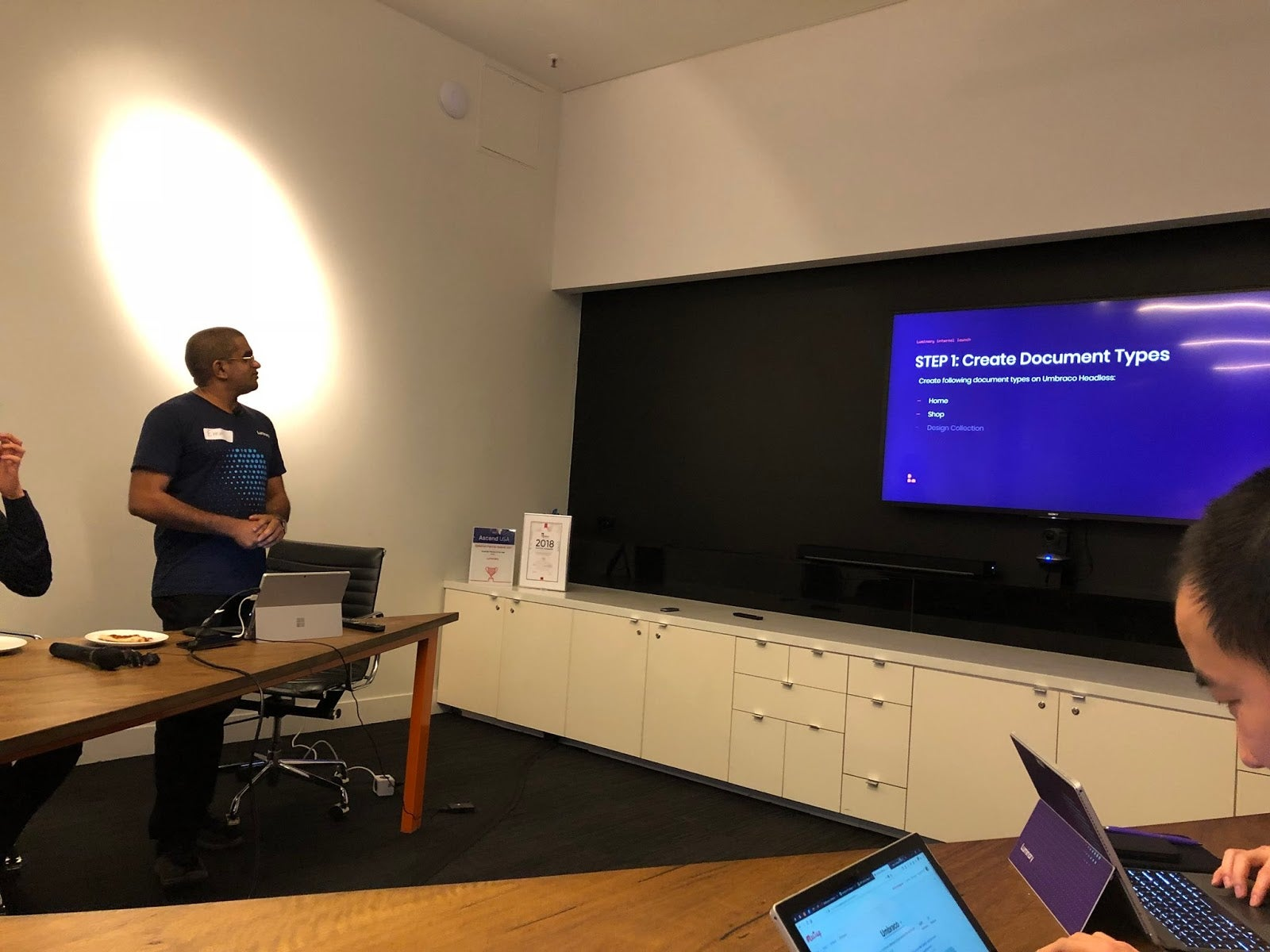 Emm at the August Umbraco Meetup