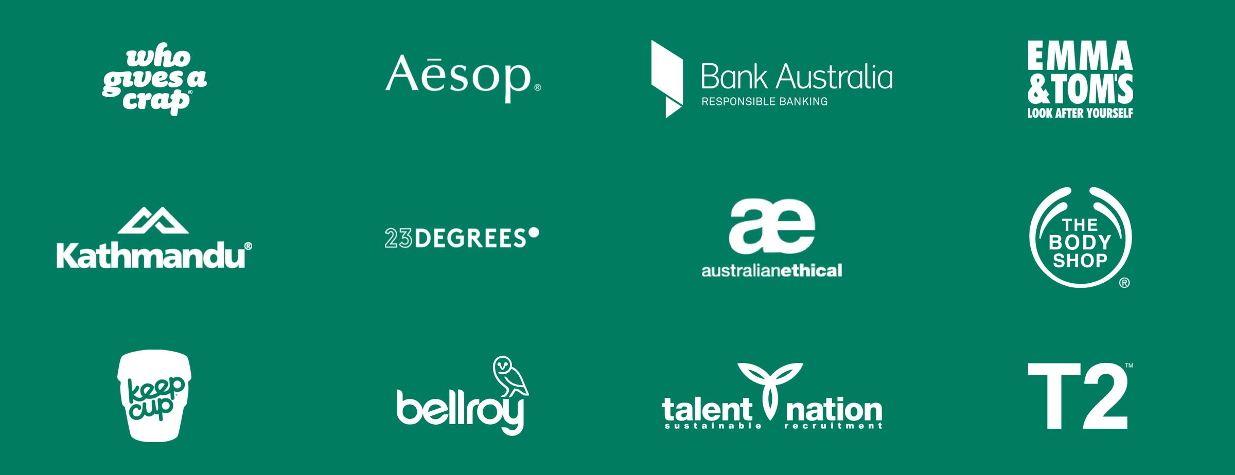 B Corp brand logos