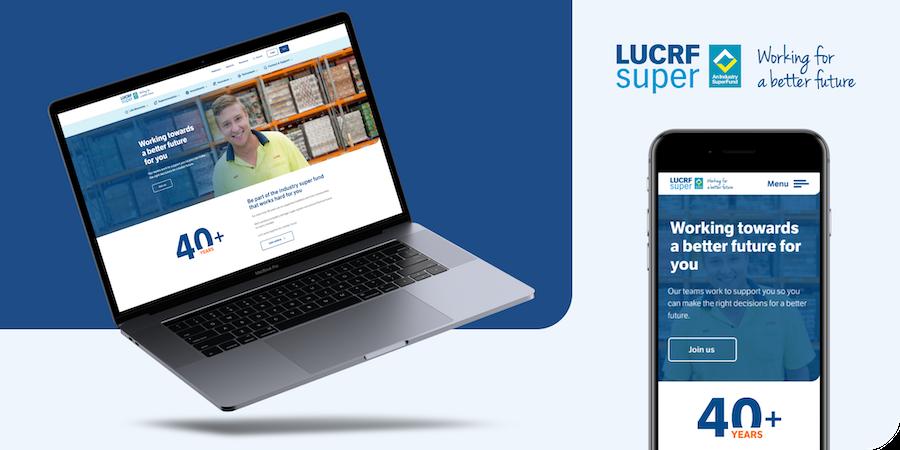 LUCRF website on a tablet