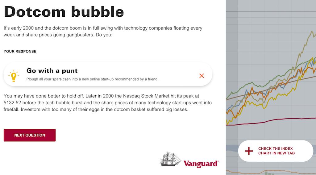 Vanguard Index Challenge - sample question