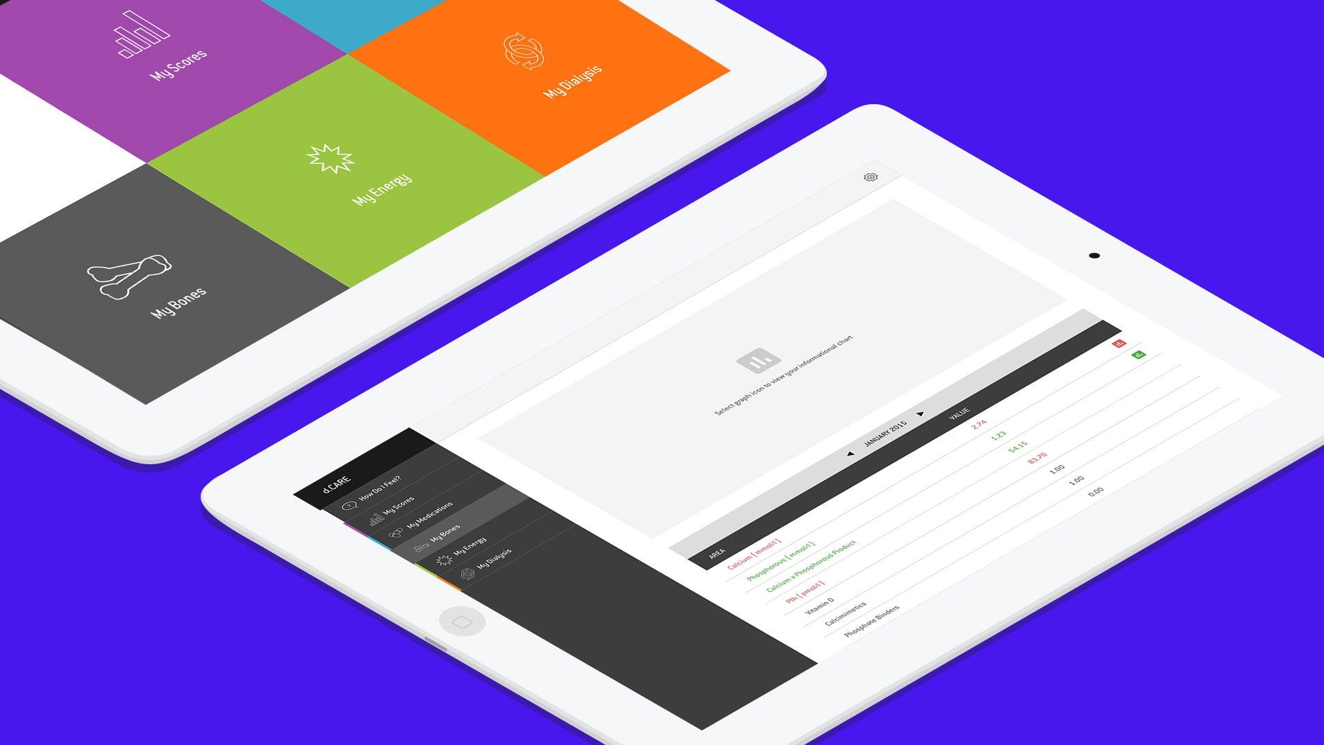 Diaverum app - My stats screen