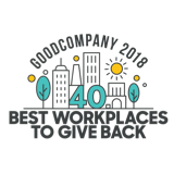 Best workplaces to give back logo