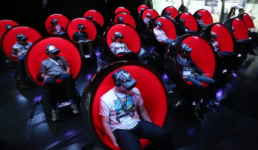 A VR cinema on display at SXSW