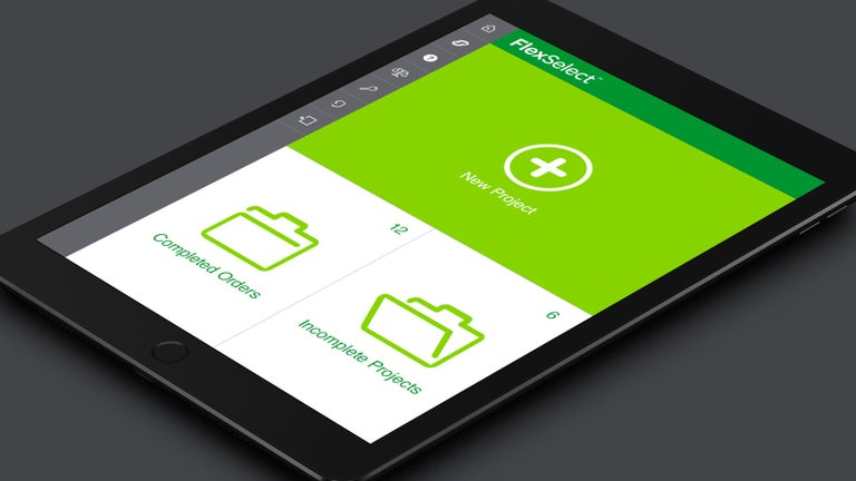 Image show FlexSelect application on a tablet