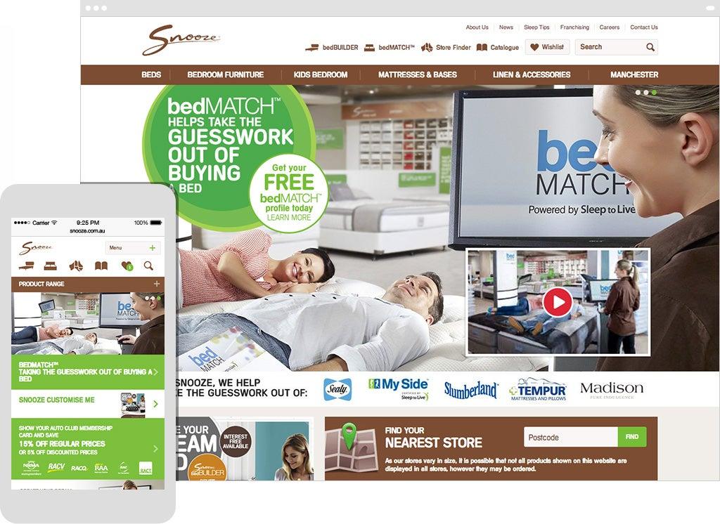 Snooze website screenshot