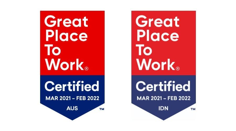GPTW badges 2021
