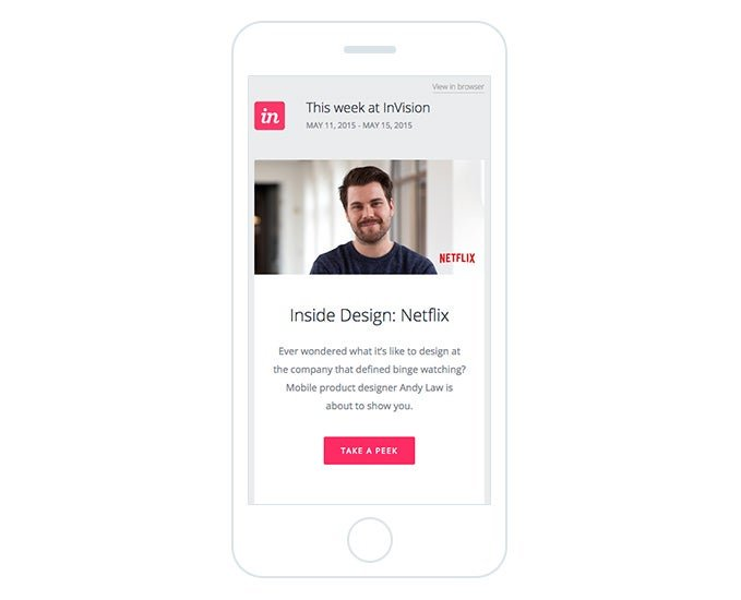 Marketing email campaign built for mobile