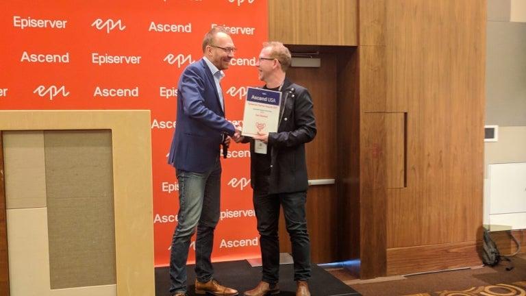 Episerver Award Presentation