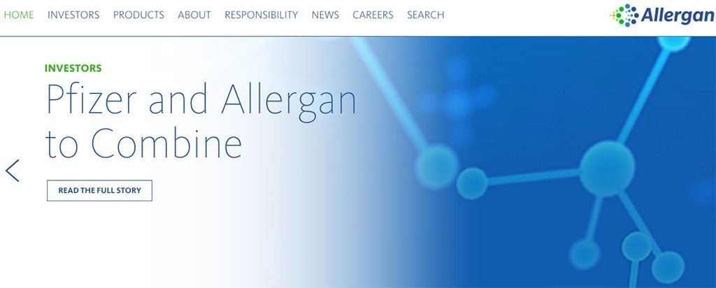 Allergan website