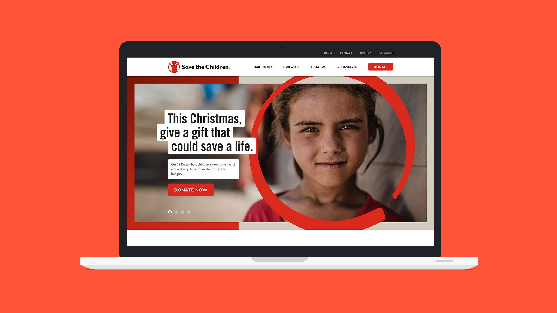 Save the Children Christmas appeal screen shot