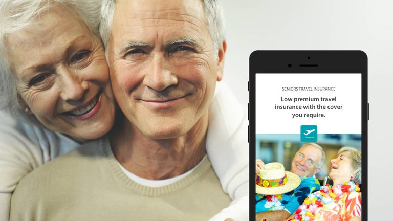 Image showing Seniors Australia website on mobile phone