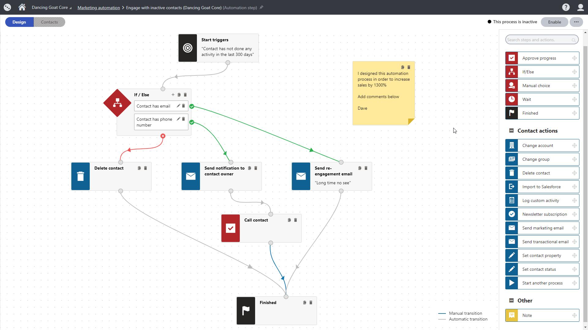 Kentico Xperience 13's new marketing automation UI