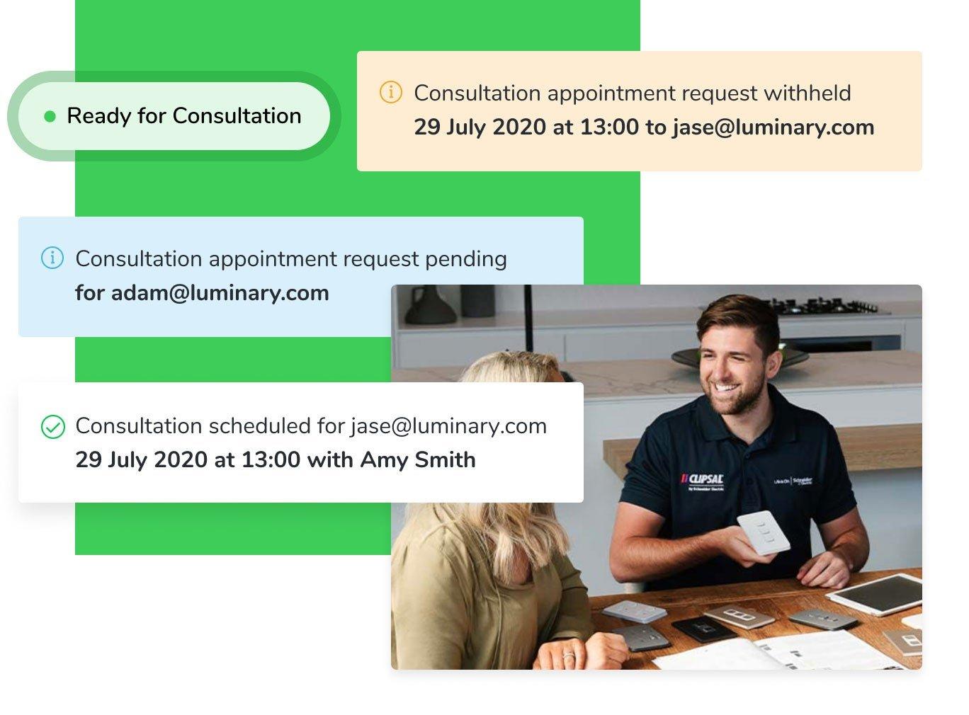 Builders schedule consultations