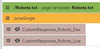 Robots web parts