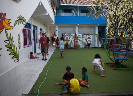 Orphanage playground