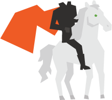 Kentico Cloud headless horseman logo