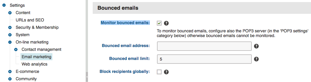 Monitoring Bounced Emails