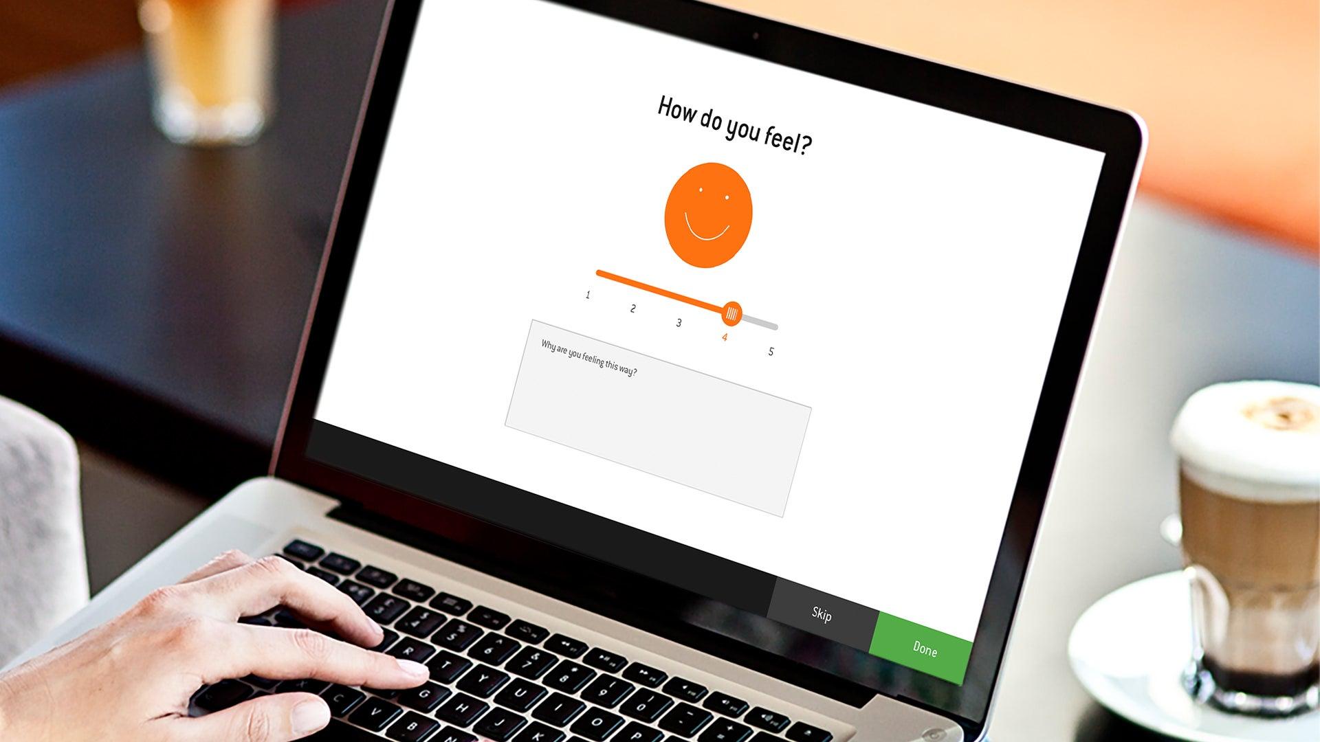 Diaverum app - How do you feel? screen