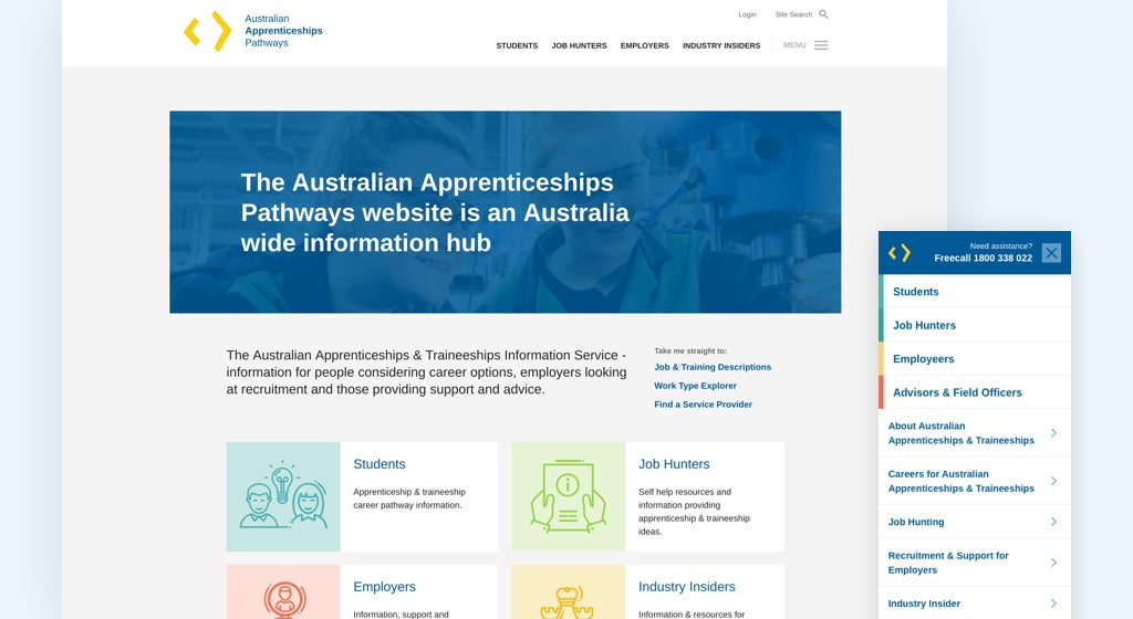 Australian Apprenticeships Pathways website