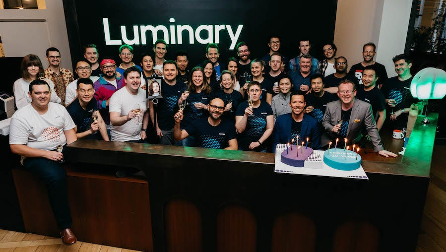 The Luminary team on our 20th birthday