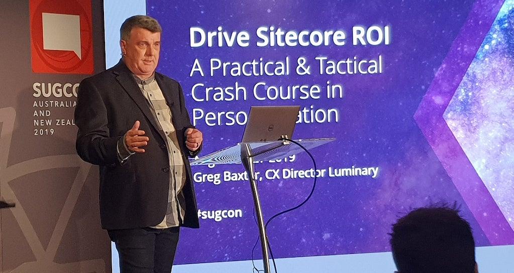 Greg presenting at SUGCON 2019