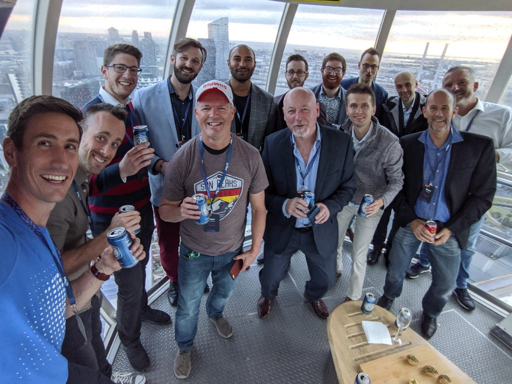 Kentico Connection Melbourne attendees at a function on the Melbourne Star