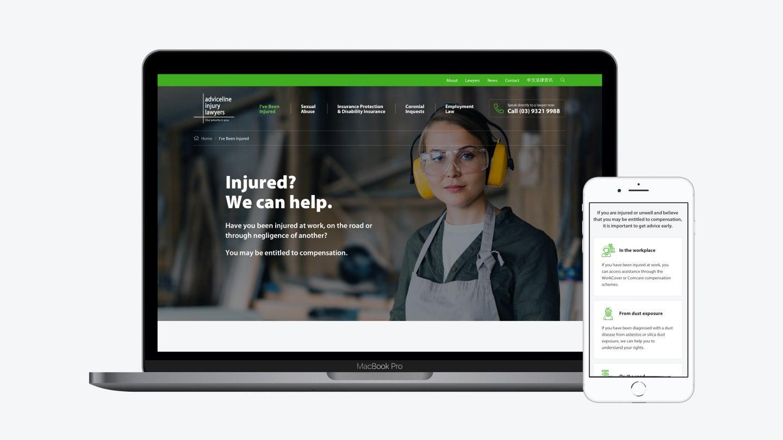Adviceline home page
