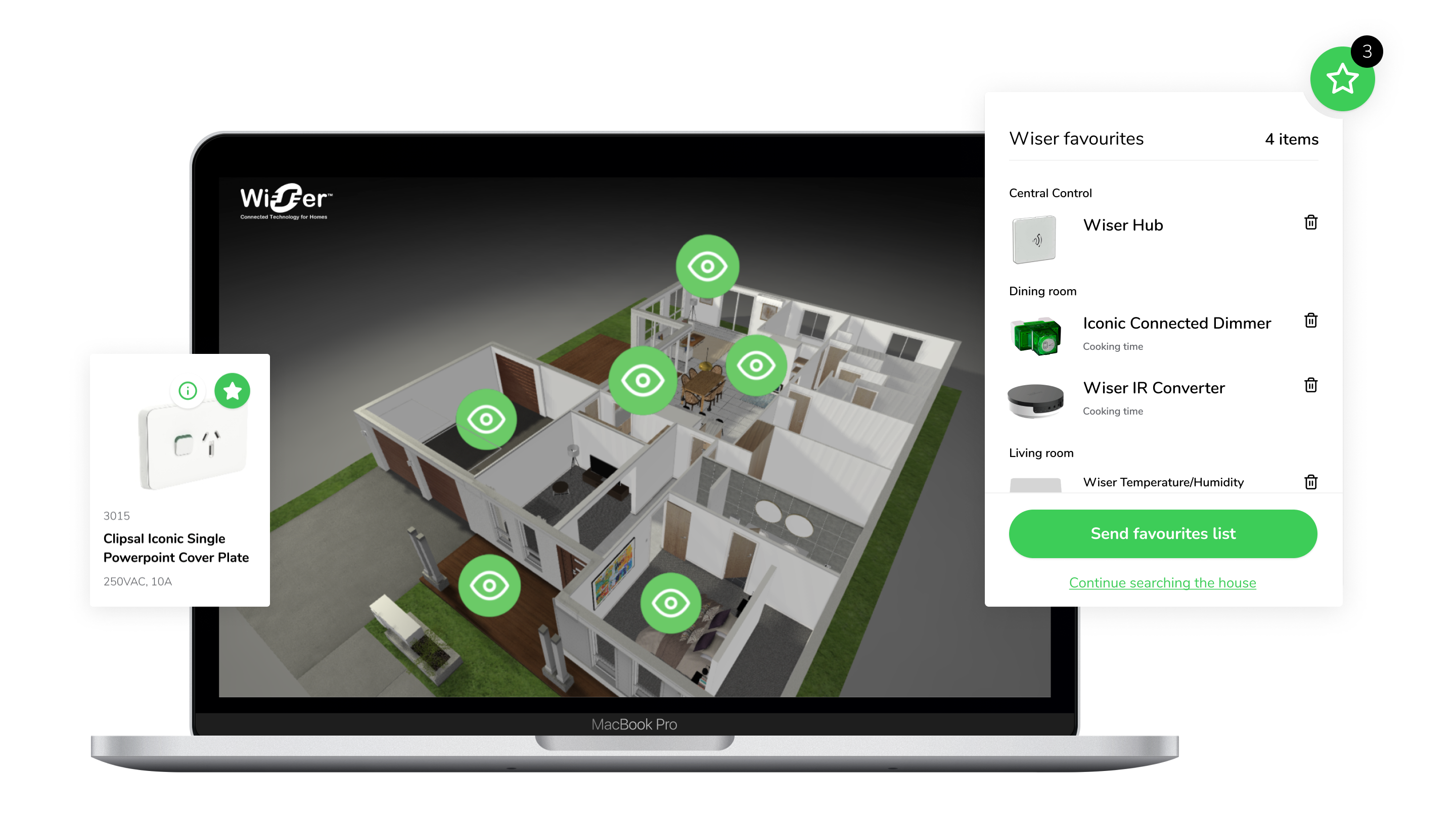Smart Home favourites feature